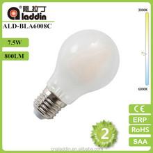 CE/EMC/LVD 8w Filament LED bulb A19
