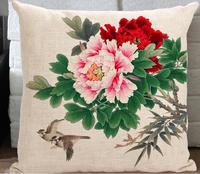 2015 China factories supply alibaba sale fashion soft 100% cotton flowers new design custom print cotton pillow case