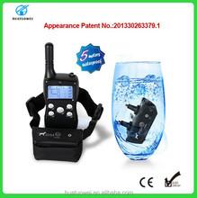 300 meter remote Shock 5 meter depth LCD waterpoof plastic Dog Training Collar