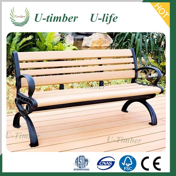 Outdoor water proof wooden plastic composite WPC garden bench.jpg