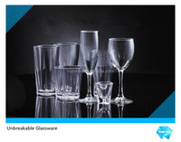 wholesale unbreakable plastic clear wine glass ware