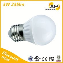Hight quality edison stype 3W E27 led bulb with UL Approved indoor lights bulb part