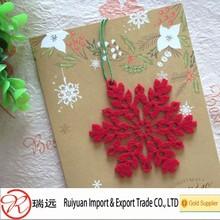 2014 Alibaba new design!!! Felt snowflake design christmas tree ornament for promotion