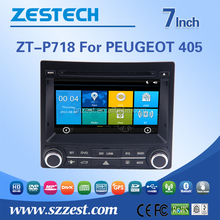 GPS+DVD+BT+TV+3G+Phone car accessores for Peugeot 405 with Win CE 6.0 system 800MHz MCU DVR OBD2