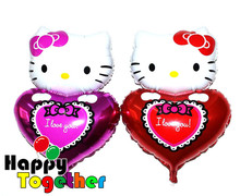 HAPPY TOGETHER Factory Wholasale Hot Selling Cat And Heart Shape Foil Balloons