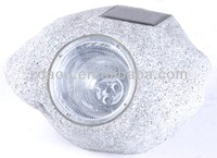 yard rock decoration light