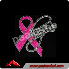 DMC Pink Ribbon & Hope Breast Cancer Awareness Rhinestone iron on transfer