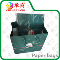 guangzhou factory custom newest printing Christmas paper gift bag