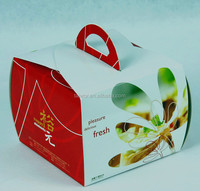 Clear Plastic Transparent Cake white Box Packaging