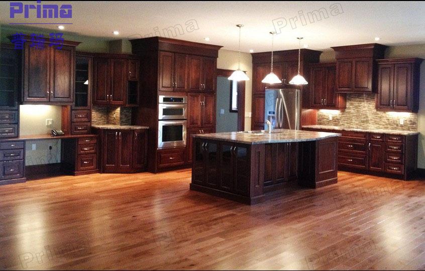 Maple bois massif caf vitrage armoires de cuisine con u for Meubles maple