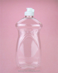 18oz cheap clear 500ml plastic liquid detergent bottle empty for sale