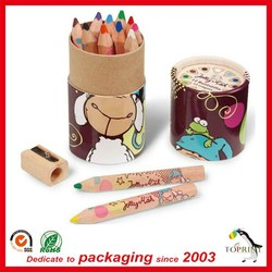 paper round box kraft paper tube for Pencil package stationery holder