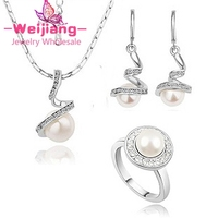A55B88C18 pearl necklace earrings ring jewelry description