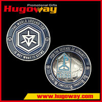 Custom blank metal silver gold plated challenge coins