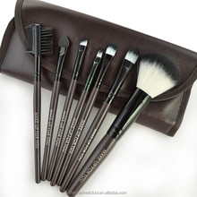 chocolate simple 7pcs cosmetic brush set 2 colors synthetic hair