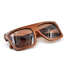 Beautiful wooden big square frame polarized sunglasses, designer sun glasses high quality