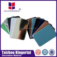 modern Hot sale Alucoworld excellent 3d wall plastic snowboard aluminium composite panel ldpe plastic material for acp