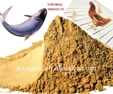 Yellowish brown to brown fish meal powder , fish meal factory in China