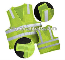 Adjustable custom Mesh High visibility Reflective work Safety Vest