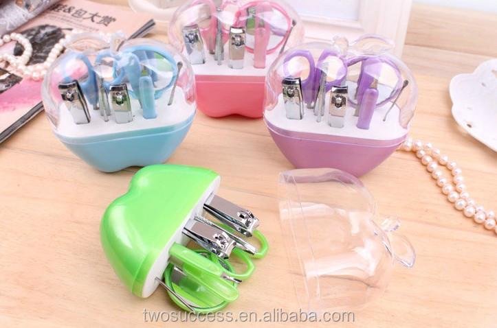 Manicure Set Pedicure Set Nail Clippers Scissors Grooming Kit Apple Shape (2).jpg