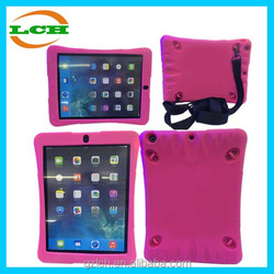 Anti-Shock Straps Silicone Corner Protective Case for iPad Air