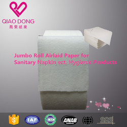 Export House Products Jumbo Rolls Soft Breathable Diaper Napkin ect. Airlaid Paper Raw Materials