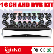 2015 New arrival h.264 network dvr 720P AHD DVR KITS with 16Bullet cameras