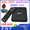 2015 New Quad Core A9 Android TV Box EM8S Amlogic S812 HD 4K IPTV Player 2GB 8GB Google Android4.4 TV Box Bluetooth Micphone