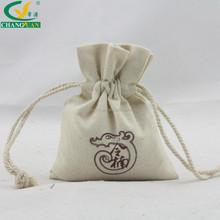Wholesale price screen printing 8oz cotton drawstring eco bag