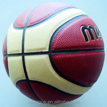PU laminated basketball with brand quality