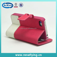 China market wallet detachable magnet leather case for iphone 4