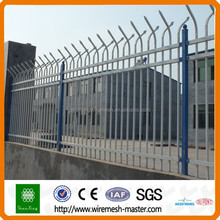 Decorative wrought steel iron fence panels design system