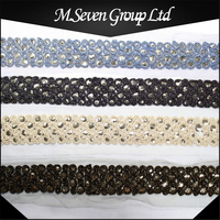 New Design 8cm Sequin Lace with Folded Yarn, Sequin Trimming, Tribal Ethnic Trims for Garment/Shoes/Bag