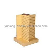wooden clothes display rack,slatwall display stand for shop