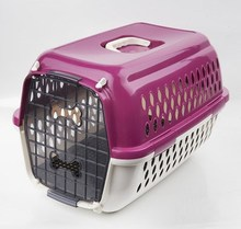New Design Pink dog portable cages dog crate plastic