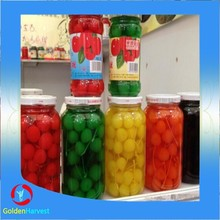 China top quality appetizing sweet pickeled canned cherry in light syrup