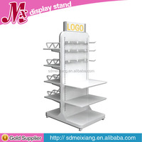 MXJ075 hot metal clothes hanging stand / garment display rack with hanger hooks