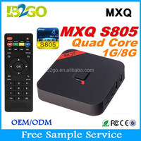 Best Selling download wifi software for pc Amlogic S805 1g 8g BT 4.0 remote control 3D Google Set Top Box