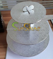 Disposable Paper cupcake cake stand, Eco-friendly Clear paper cake stand