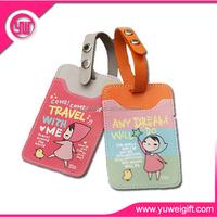 2015 wholesales custom plastic pvc luggage tag
