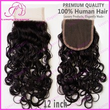 New Arrival Virgin Brazilian Hair Curly Free Parting Lace Closure For Sale
