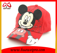 Hot sale 100% cotton baseball cartoon cap for kid and children