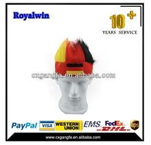 2015 hot sales promotional football fans wig ,soccer fans wig