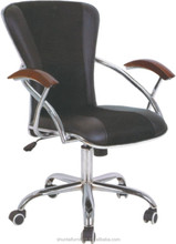 Mesh&leather executive chair/swivel chairs/office chair with wood armrest