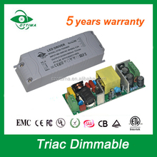 CE SAA dimmable constant current led driver 3-5w low pf 200ma AC DC Power supply 3-20V DC for led driver