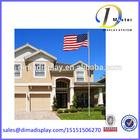 20ft alumínio seccional flagpole kit gratuito nos american bandeiras pólos exteriores adriça mastro