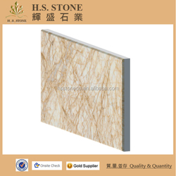 Golden phoenxi beige marble composite tile compound panel laminated