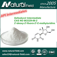 Pharmaceutical raw material 2'-deoxy-2'-fluoro-2'-C-methyluridine Sofosbuvir Intermediate