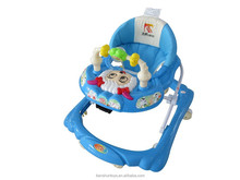happy sheep face image 5 adjustable height music foldable baby walker