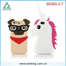 Silicone rubber Cartoon case For iPhone 6 / for iPhone 6 silicone unicorn case